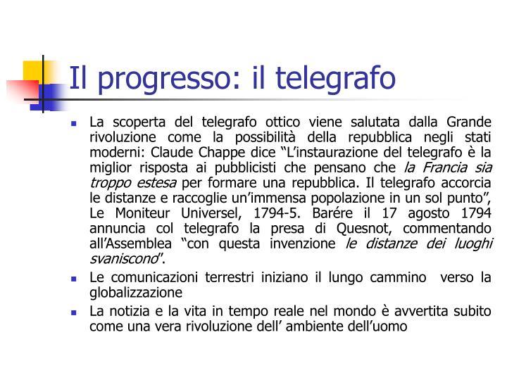 Il progresso: il telegrafo