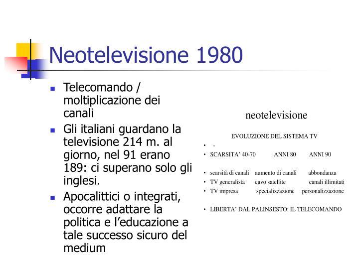 Neotelevisione 1980