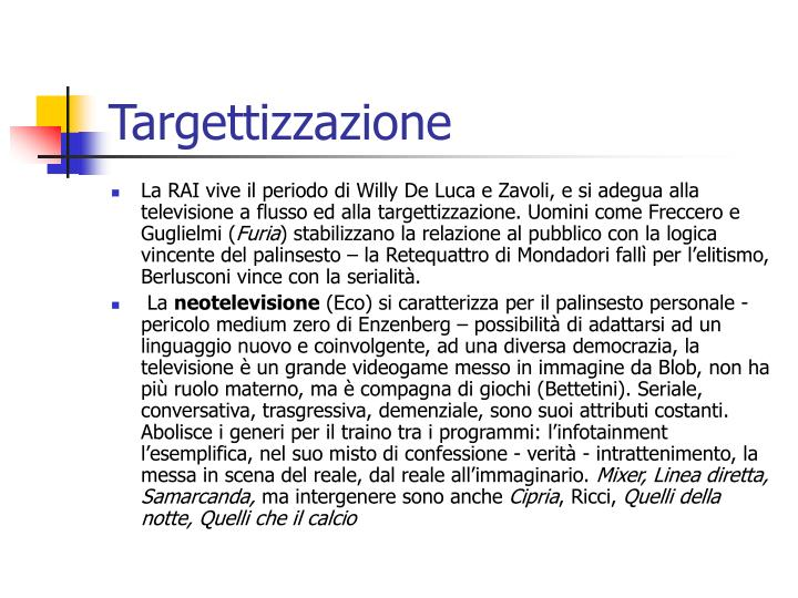 Targettizzazione
