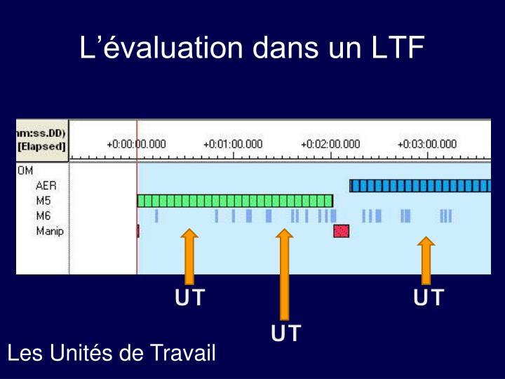 L'évaluation dans un LTF