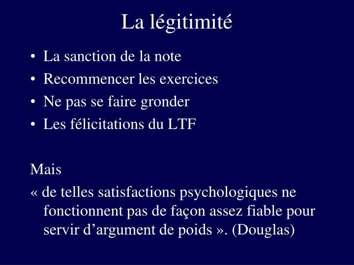 La légitimité