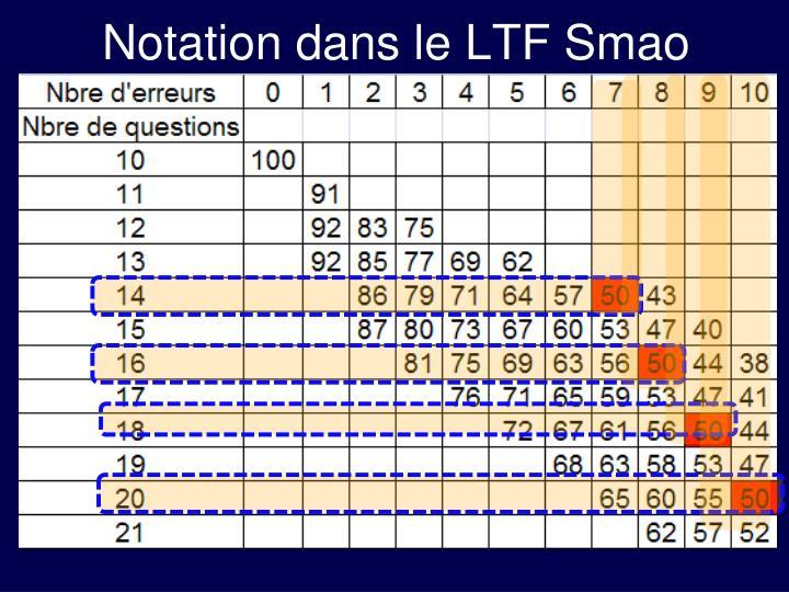 Notation dans le LTF Smao