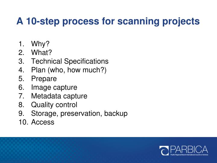 A 10-step process for scanning projects