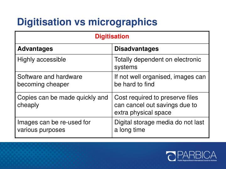 Digitisation vs micrographics