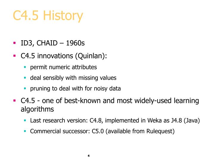 C4.5 History