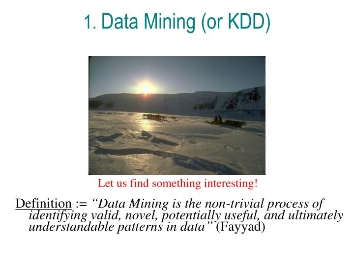 1 data mining or kdd