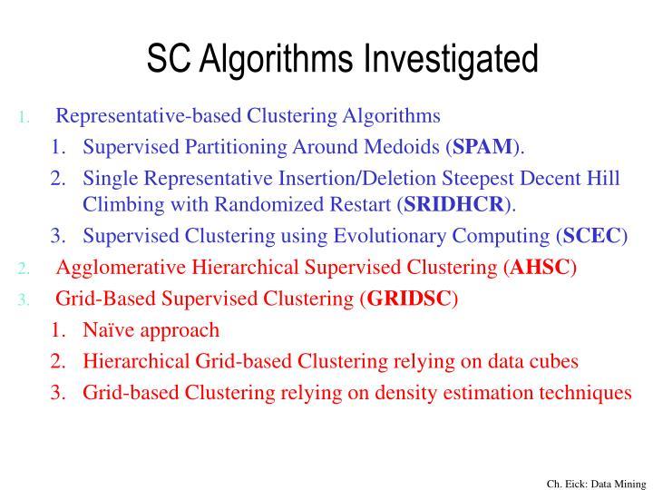 SC Algorithms Investigated