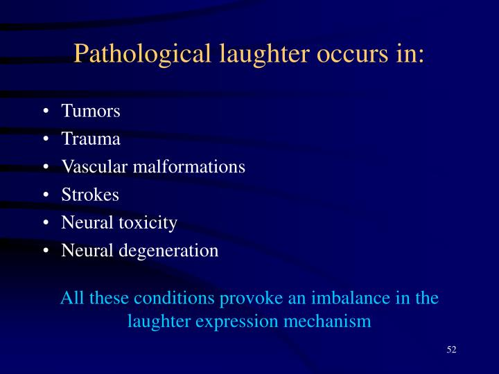 Pathological laughter occurs in: