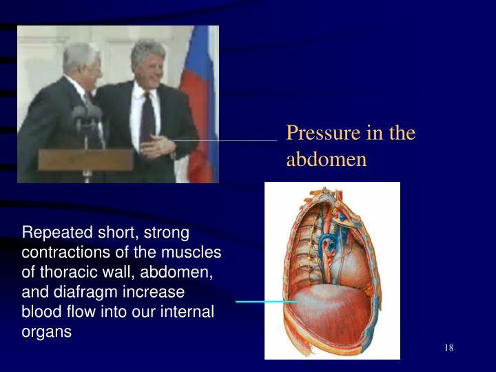 Pressure in the abdomen