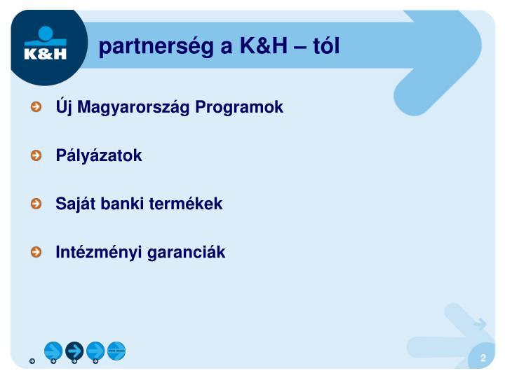 partnerség a K&H – tól