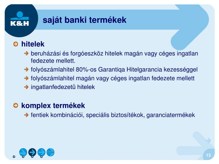 saját banki termékek