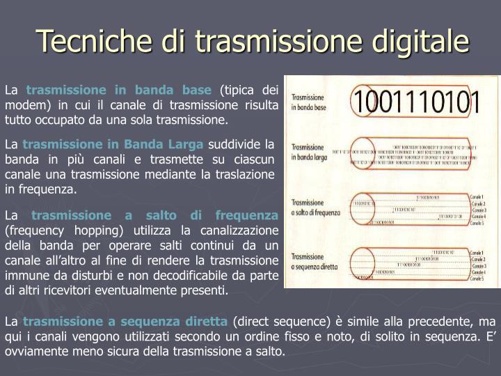 Tecniche di trasmissione digitale