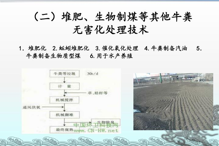 (二)堆肥、生物制煤等其他牛粪