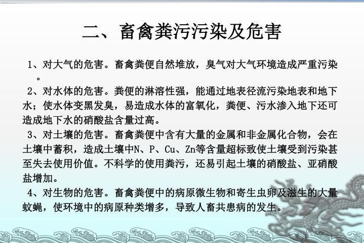 二、畜禽粪污污染及危害