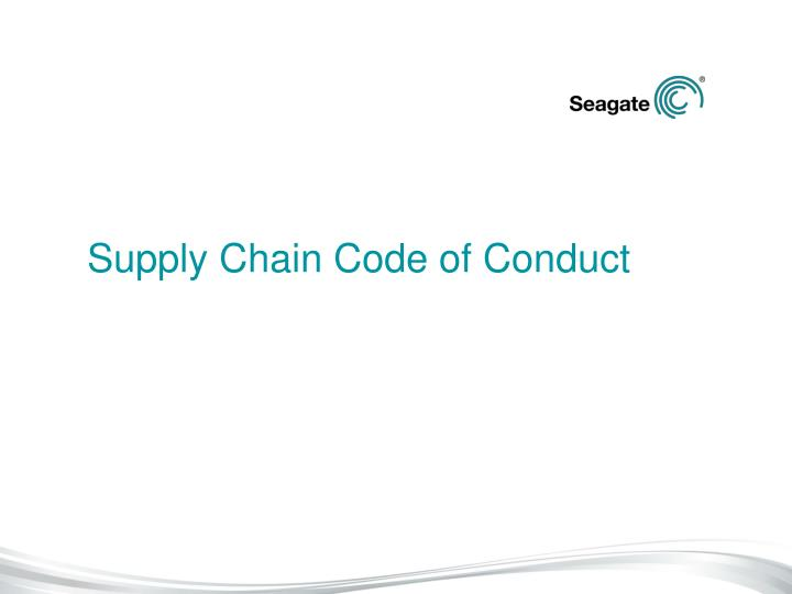 Supply Chain Code of Conduct