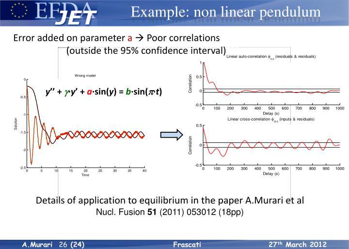 Example: pendulum