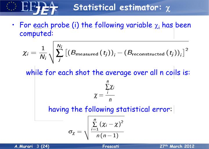 Statistical estimator: