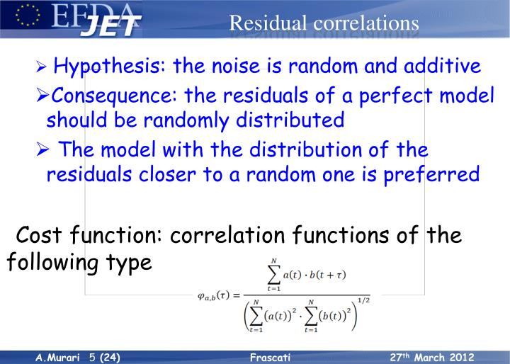 The correlation tests method