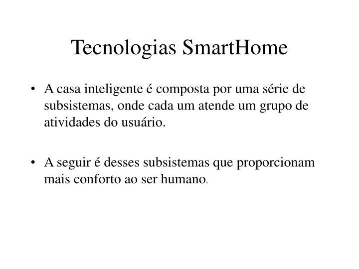 Tecnologias SmartHome