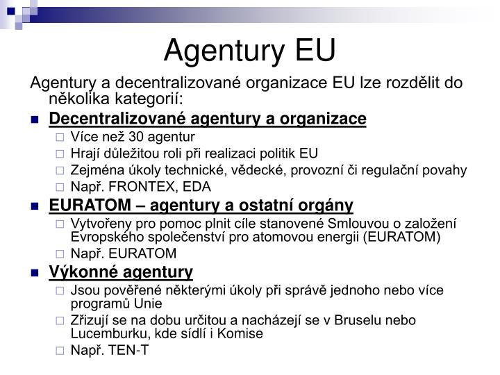 Agentury EU