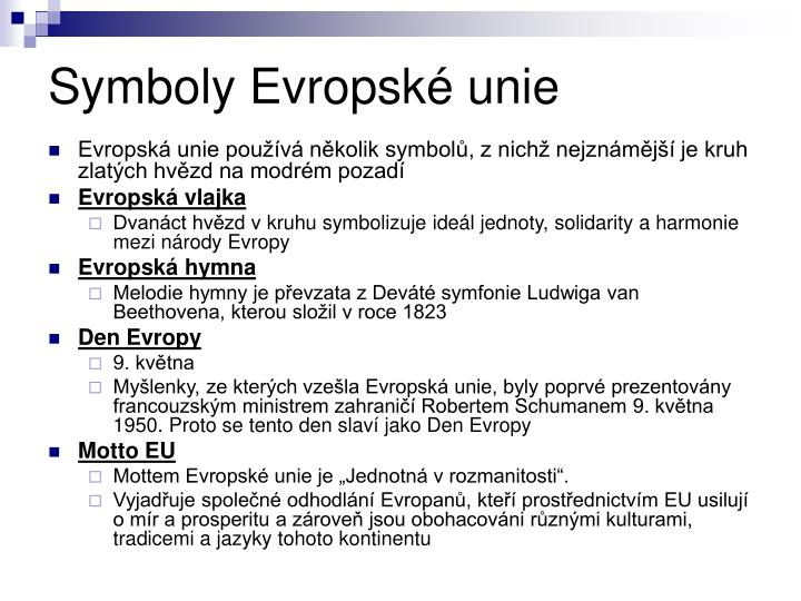 Symboly Evropské unie