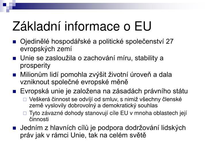 Základní informace o EU