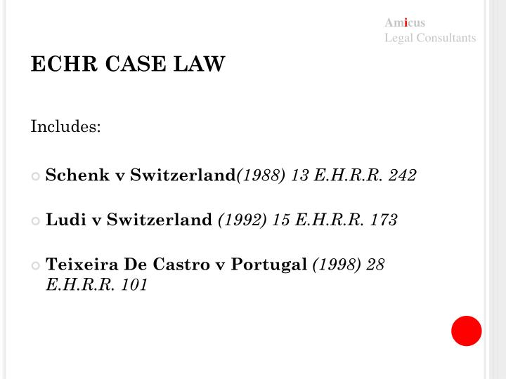 ECHR CASE LAW