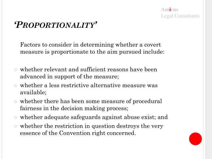 'Proportionality'