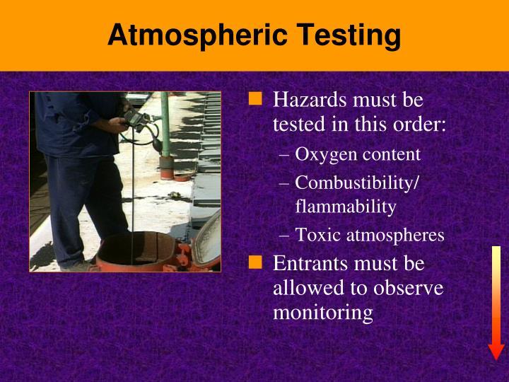 Atmospheric Testing