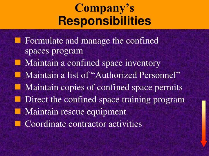 Company's