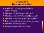 company s responsibilities