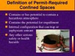 definition of permit required confined spaces