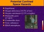 potential confined space hazards