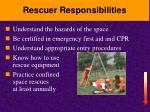 rescuer responsibilities