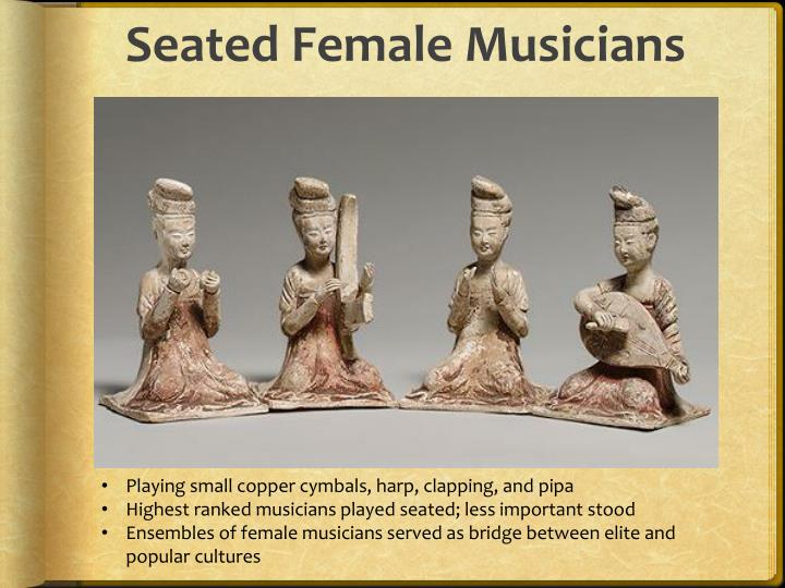 Seated Female Musicians