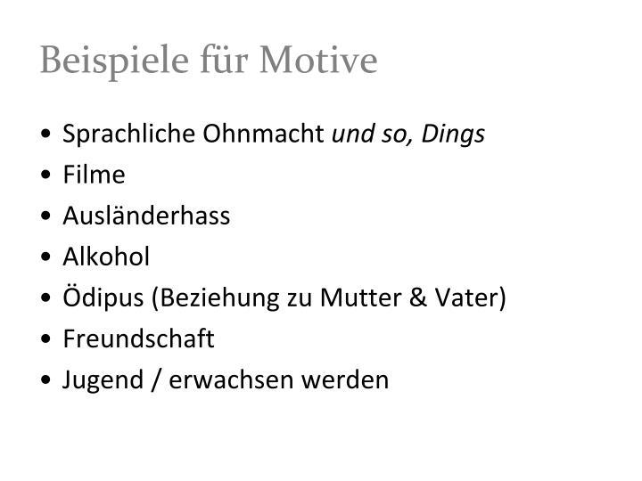 Beispiele für Motive