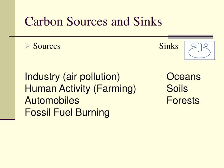 Carbon Sources and Sinks