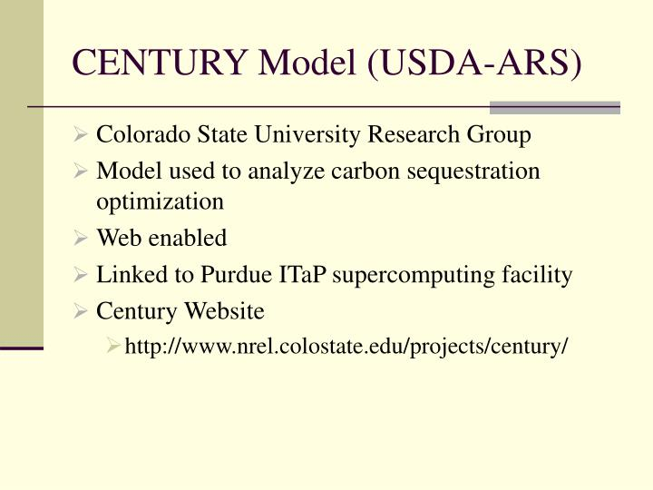 CENTURY Model (USDA-ARS)