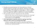 deeming charge to qm wg