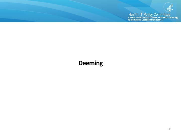 Deeming