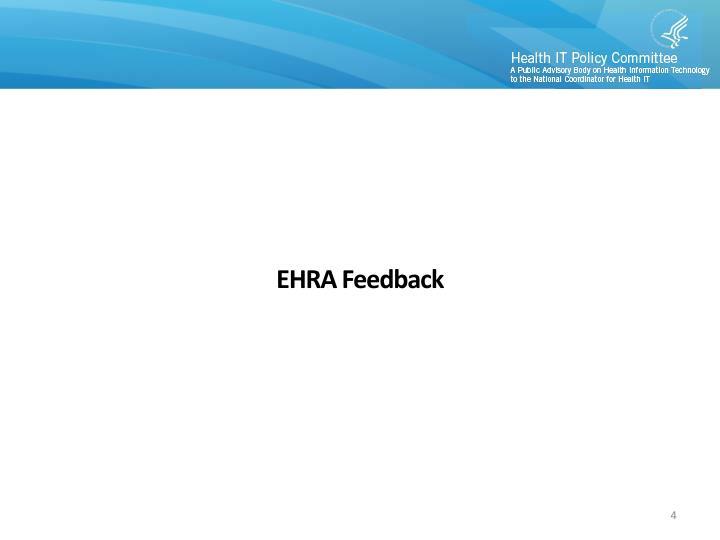 EHRA Feedback