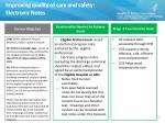 improving quality of care and safety electronic notes