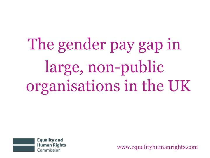 The gender pay gap in