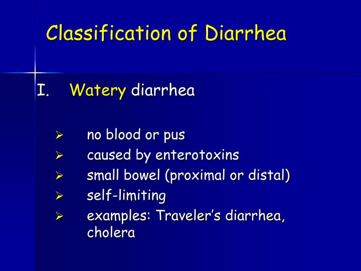 Classification of Diarrhea