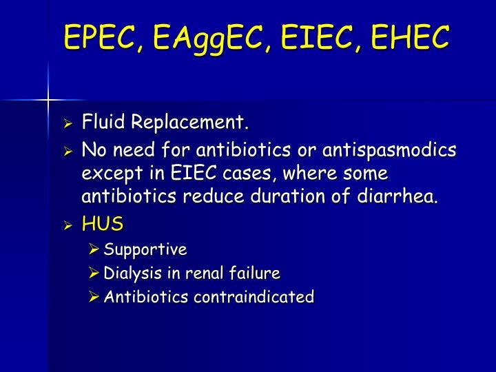 EPEC, EAggEC, EIEC, EHEC