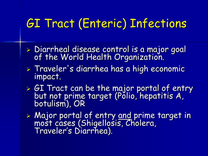 GI Tract (Enteric) Infections