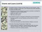 grants and loans cont d