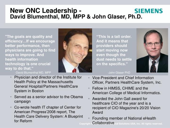 New ONC Leadership -