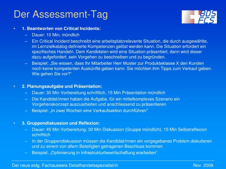 Der Assessment-Tag