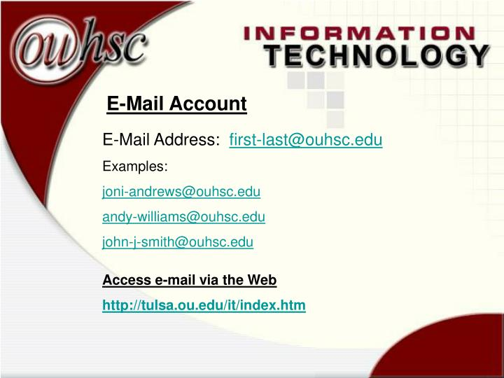 E-Mail Account